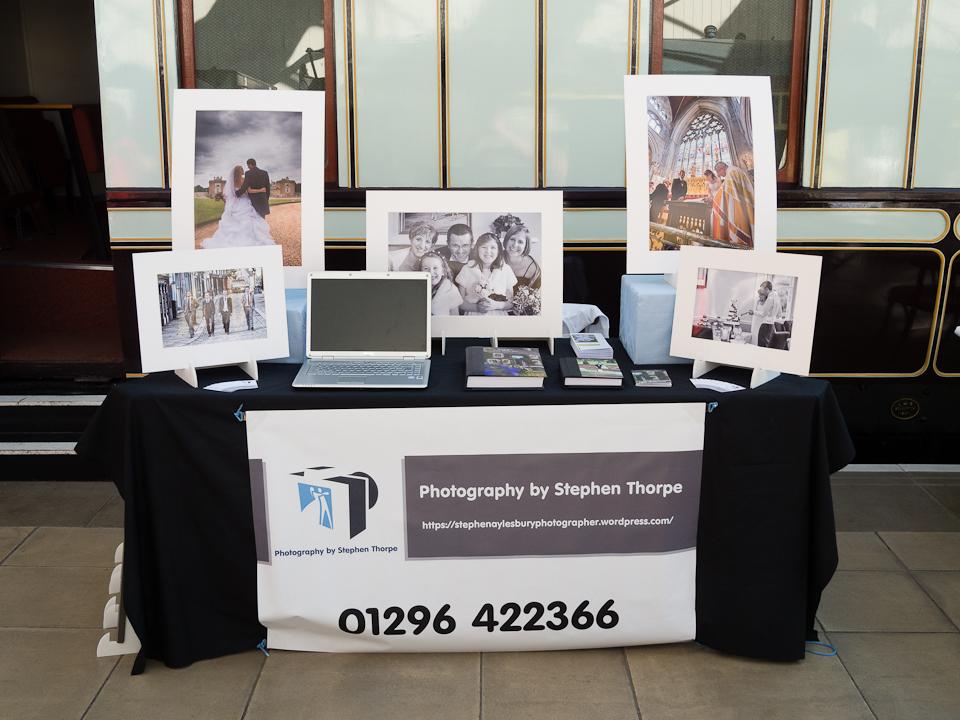 Wedding Exhibition Stall : Quainton wedding fair photography by stephen thorpe